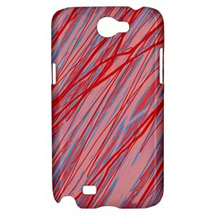 Pink and red decorative pattern Samsung Galaxy Note 2 Hardshell Case