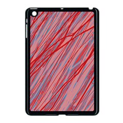 Pink and red decorative pattern Apple iPad Mini Case (Black)