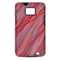 Pink and red decorative pattern Samsung Galaxy S II i9100 Hardshell Case (PC+Silicone)