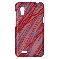 Pink and red decorative pattern HTC Desire VT (T328T) Hardshell Case