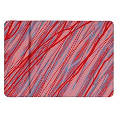 Pink and red decorative pattern Samsung Galaxy Tab 8.9  P7300 Flip Case