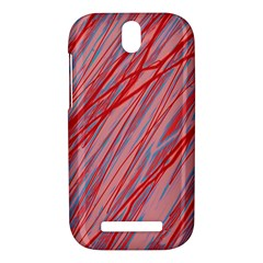 Pink and red decorative pattern HTC One SV Hardshell Case