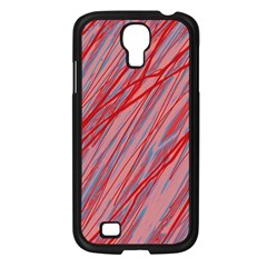 Pink and red decorative pattern Samsung Galaxy S4 I9500/ I9505 Case (Black)