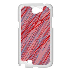 Pink and red decorative pattern Samsung Galaxy Note 2 Case (White)