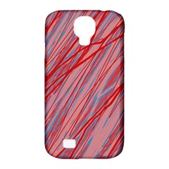 Pink and red decorative pattern Samsung Galaxy S4 Classic Hardshell Case (PC+Silicone)