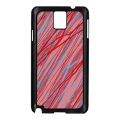 Pink and red decorative pattern Samsung Galaxy Note 3 N9005 Case (Black)