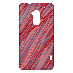 Pink and red decorative pattern HTC One Max (T6) Hardshell Case