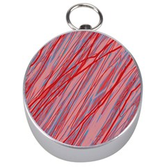 Pink and red decorative pattern Silver Compasses