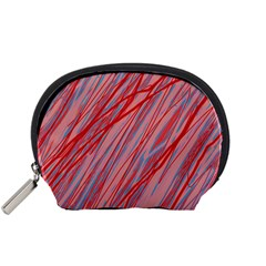 Pink and red decorative pattern Accessory Pouches (Small)