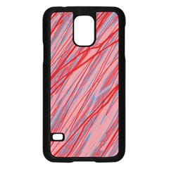 Pink and red decorative pattern Samsung Galaxy S5 Case (Black)