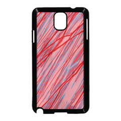 Pink and red decorative pattern Samsung Galaxy Note 3 Neo Hardshell Case (Black)