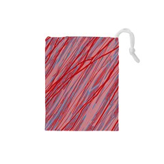 Pink and red decorative pattern Drawstring Pouches (Small)