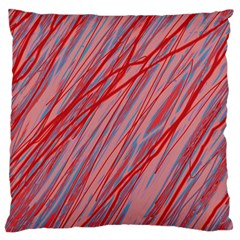 Pink and red decorative pattern Large Flano Cushion Case (Two Sides)