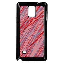 Pink and red decorative pattern Samsung Galaxy Note 4 Case (Black)