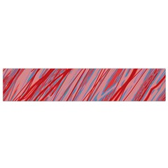 Pink and red decorative pattern Flano Scarf (Small)