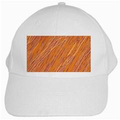 Orange pattern White Cap