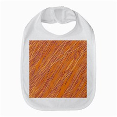 Orange Pattern Bib