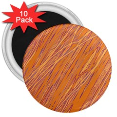 Orange pattern 3  Magnets (10 pack)