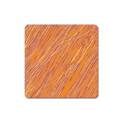 Orange pattern Square Magnet