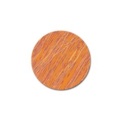 Orange pattern Golf Ball Marker (4 pack)