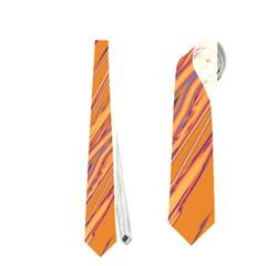 Orange pattern Neckties (Two Side)