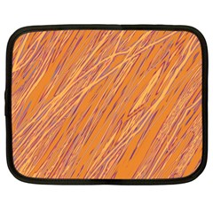 Orange pattern Netbook Case (Large)