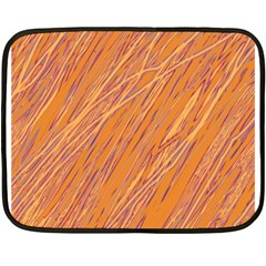 Orange pattern Double Sided Fleece Blanket (Mini)