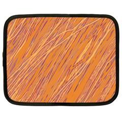 Orange pattern Netbook Case (XL)