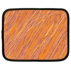 Orange pattern Netbook Case (XXL)