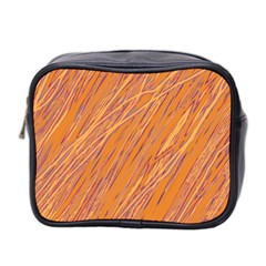 Orange pattern Mini Toiletries Bag 2-Side