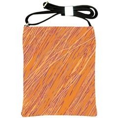 Orange pattern Shoulder Sling Bags