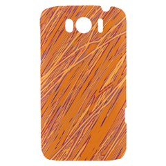 Orange pattern HTC Sensation XL Hardshell Case