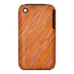Orange pattern Apple iPhone 3G/3GS Hardshell Case (PC+Silicone)