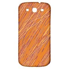Orange pattern Samsung Galaxy S3 S III Classic Hardshell Back Case