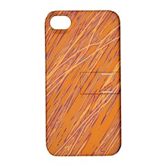 Orange pattern Apple iPhone 4/4S Hardshell Case with Stand
