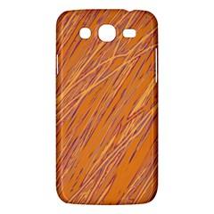 Orange pattern Samsung Galaxy Mega 5.8 I9152 Hardshell Case