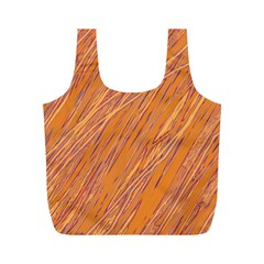 Orange pattern Full Print Recycle Bags (M)