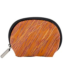 Orange pattern Accessory Pouches (Small)