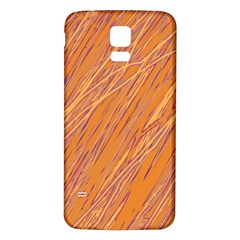 Orange pattern Samsung Galaxy S5 Back Case (White)