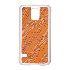 Orange pattern Samsung Galaxy S5 Case (White)