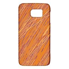 Orange pattern Galaxy S6