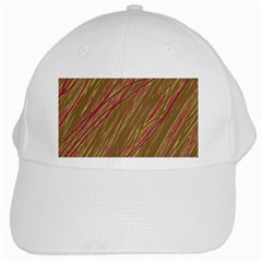 Brown elegant pattern White Cap