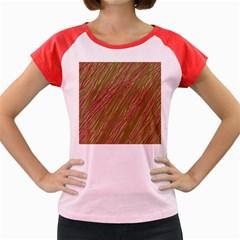 Brown elegant pattern Women s Cap Sleeve T-Shirt