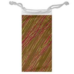 Brown elegant pattern Jewelry Bags