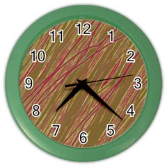 Brown elegant pattern Color Wall Clocks