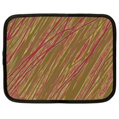 Brown elegant pattern Netbook Case (XXL)