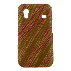 Brown elegant pattern Samsung Galaxy Ace S5830 Hardshell Case