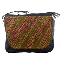 Brown elegant pattern Messenger Bags
