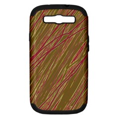 Brown elegant pattern Samsung Galaxy S III Hardshell Case (PC+Silicone)