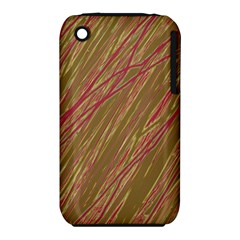 Brown elegant pattern Apple iPhone 3G/3GS Hardshell Case (PC+Silicone)